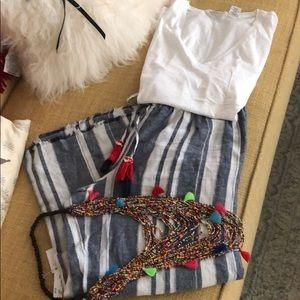 Indigo Rein Linen Rayon Gauze Pant -Large